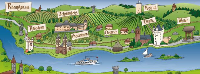 Rheingauer Landkarte